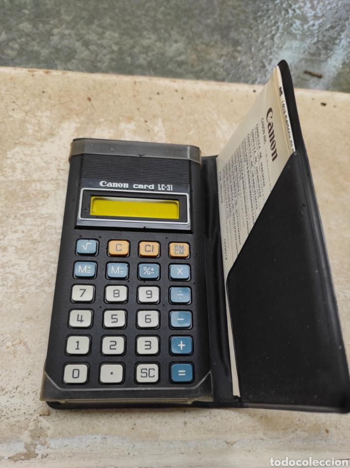 Antigüedades: Antigua Calculadora Canon Card LC-31 - Foto 2 - 257708175