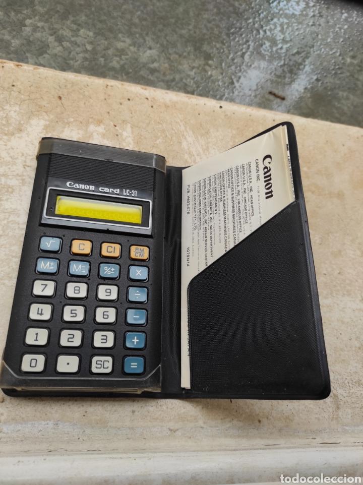 Antigüedades: Antigua Calculadora Canon Card LC-31 - Foto 3 - 257708175