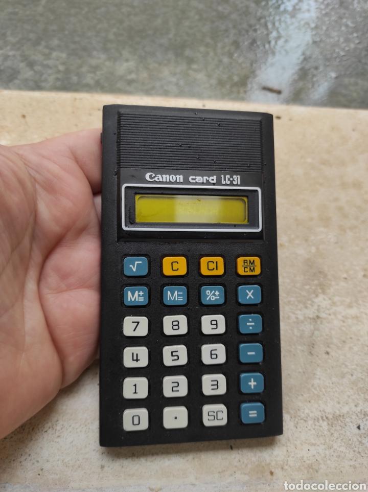 Antigüedades: Antigua Calculadora Canon Card LC-31 - Foto 4 - 257708175