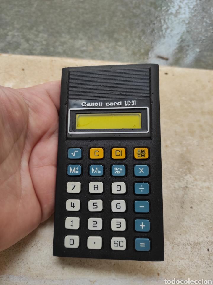 Antigüedades: Antigua Calculadora Canon Card LC-31 - Foto 5 - 257708175