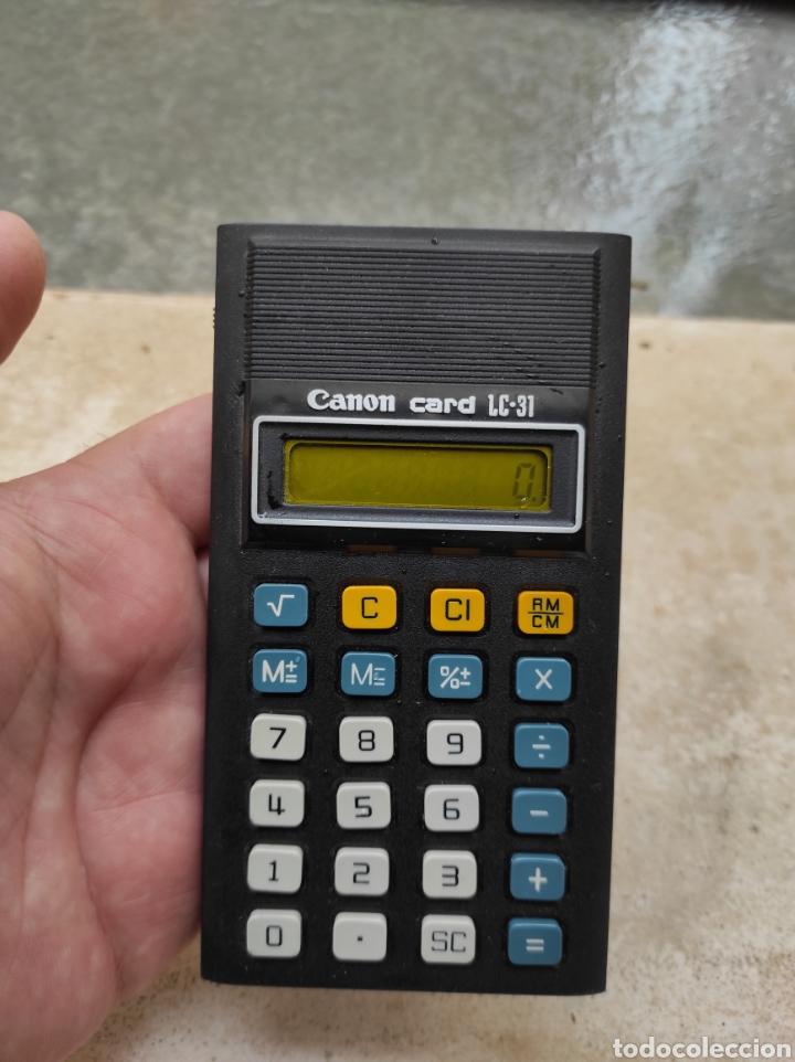 Antigüedades: Antigua Calculadora Canon Card LC-31 - Foto 6 - 257708175