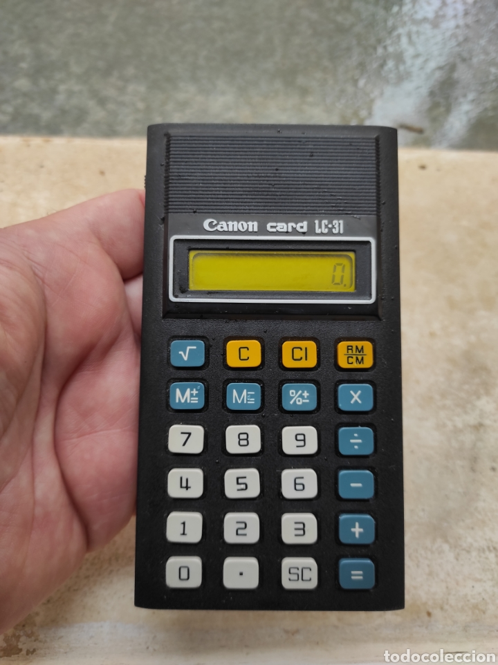 Antigüedades: Antigua Calculadora Canon Card LC-31 - Foto 7 - 257708175