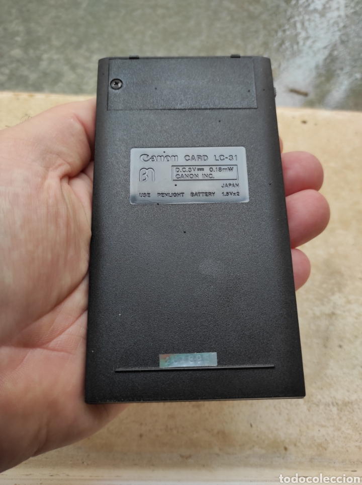 Antigüedades: Antigua Calculadora Canon Card LC-31 - Foto 8 - 257708175