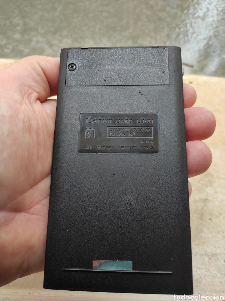Antigüedades: Antigua Calculadora Canon Card LC-31 - Foto 9 - 257708175