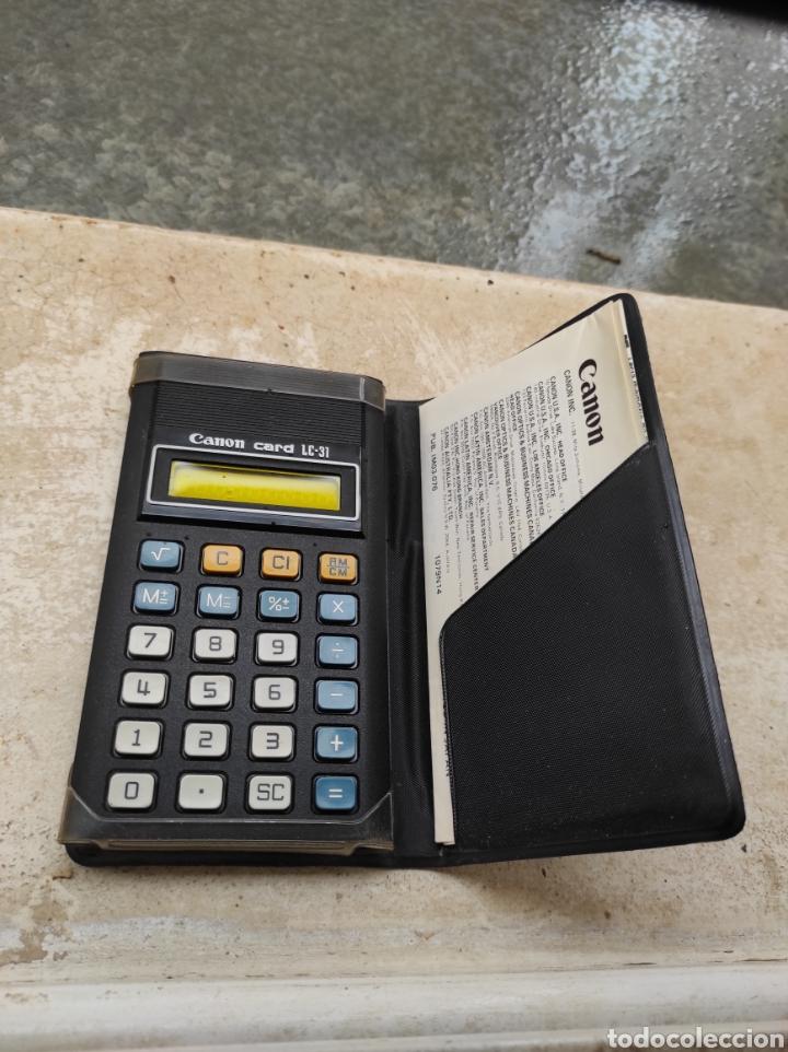 Antigüedades: Antigua Calculadora Canon Card LC-31 - Foto 10 - 257708175