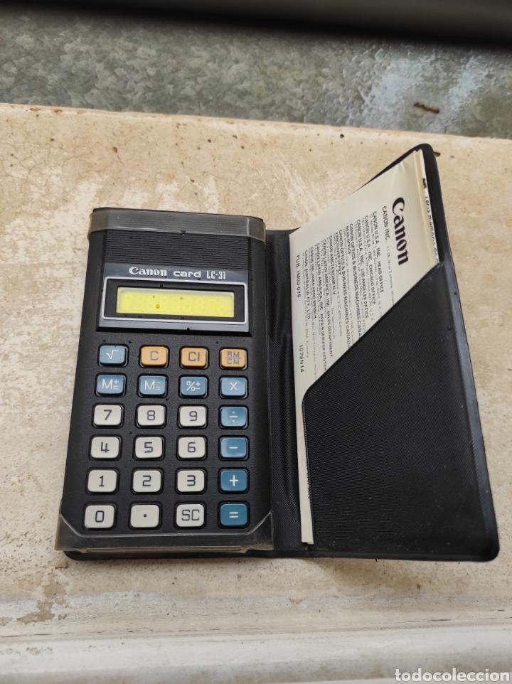 ANTIGUA CALCULADORA CANON CARD LC-31 (Antigüedades - Técnicas - Aparatos de Cálculo - Calculadoras Antiguas)