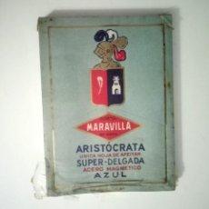 Antigüedades: 100 HOJAS DE AFEITAR MARAVILLA ARISTÓCRATA - CAJA PRECINTADA - 10 PAQUETES CON 10 HOJAS. Lote 257746595