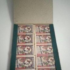 Antigüedades: 100 HOJAS DE AFEITAR SEVILLANA - CAJA COMPLETA - 10 PAQUETES DE 10 HOJAS CON SU FUNDA. Lote 257746960