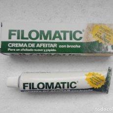Antigüedades: FILOMATIC CREMA DE AFEITAR CON BROCHA FILOMATIC - NUEVA SIN ESTRENAR -. Lote 257841455