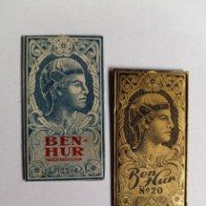 Antigüedades: HOJA DE AFEITAR - BEN-HUR Y BEN-HUR N°20 - HOJAS CON FUNDA. Lote 257926890
