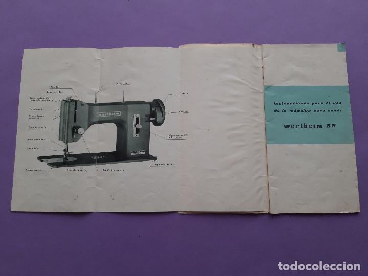 ANTIGUO CATALOGO PUBLICIDAD INSTRUCCIONES MAQUINA DE COSER WERTHEIM MODELO BR RAPIDA (Antigüedades - Técnicas - Máquinas de Coser Antiguas - Wertheim )