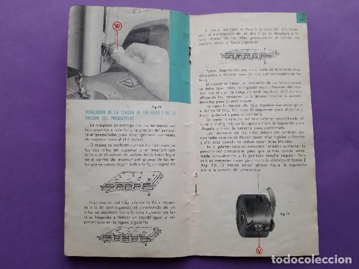 Antigüedades: ANTIGUO CATALOGO PUBLICIDAD INSTRUCCIONES MAQUINA DE COSER WERTHEIM MODELO BR RAPIDA - Foto 5 - 258086260