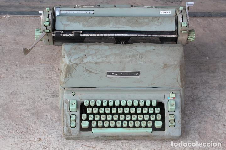 Antigüedades: Máquina de escribir HERMES AMBASSADOR - Foto 3 - 258228080