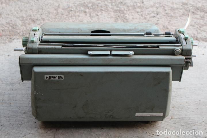Antigüedades: Máquina de escribir HERMES AMBASSADOR - Foto 4 - 258228080