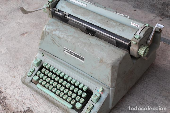 Antigüedades: Máquina de escribir HERMES AMBASSADOR - Foto 5 - 258228080