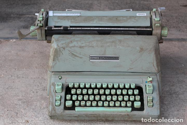 MÁQUINA DE ESCRIBIR HERMES AMBASSADOR (Antigüedades - Técnicas - Máquinas de Escribir Antiguas - Hermes)