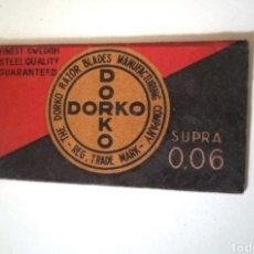 Antigüedades: HOJA DE AFEITAR DORKO - HOJA CON FUNDA. Lote 258228475