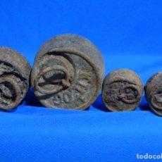 Antigüedades: 4 ANTIGUAS PESAS.. Lote 258801245
