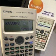 Antigüedades: CALCULADORA CASIO FC 100V FINANCIERA ¡¡¡NUEVA!!!. Lote 82357720