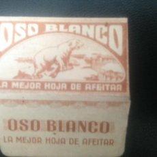 Antigüedades: HOJA DE AFEITAR - CUCHILLA DE AFEITAR - OSO BLANCO. Lote 258862675