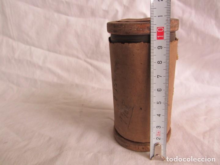 Antigüedades: Bobina de madera hilo resistivo para fabricar resistencias 1300ºC, 0,15 mm de diámetro - Foto 7 - 258998310
