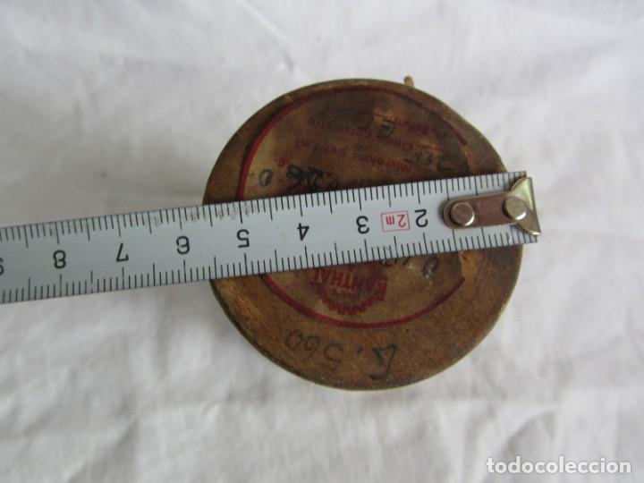 Antigüedades: Bobina de madera hilo resistivo para fabricar resistencias 1300ºC, 0,15 mm de diámetro - Foto 8 - 258998310