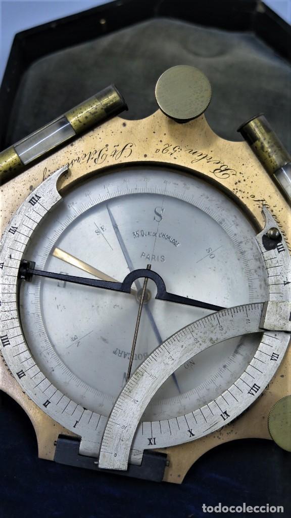 Antigüedades: CUADRANTE SOLAR NAUTICO. RELOJ DE SOL. BOUCART. PARIS - Foto 2 - 259013030