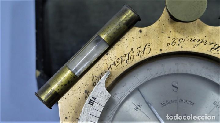 Antigüedades: CUADRANTE SOLAR NAUTICO. RELOJ DE SOL. BOUCART. PARIS - Foto 6 - 259013030