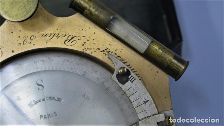 Antigüedades: CUADRANTE SOLAR NAUTICO. RELOJ DE SOL. BOUCART. PARIS - Foto 7 - 259013030