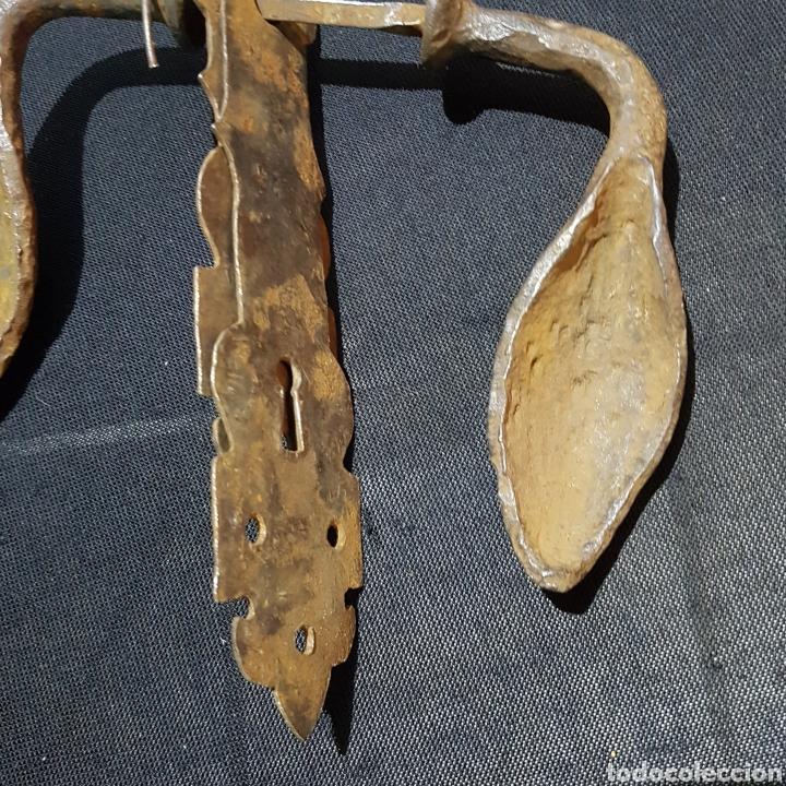 Antigüedades: MANETA DE HIERRO FORJADO - Foto 7 - 259223815