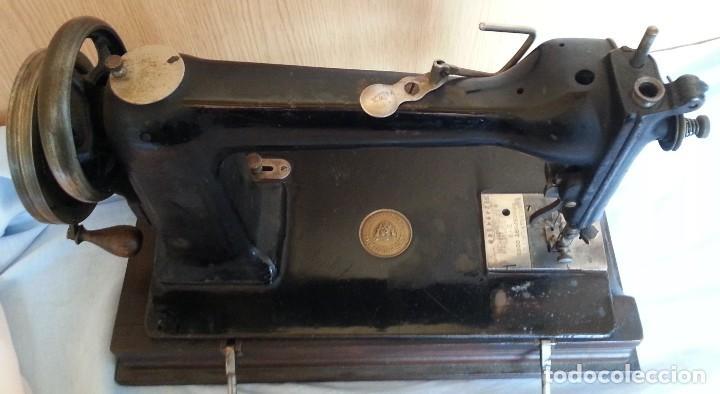 Antigüedades: Máquina de coser antigua. Marca Wheeler & Wilson. - Foto 7 - 259229095