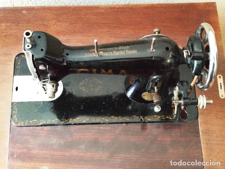 Antigüedades: Antigua máquina de coser CIMA, Estarta y Ecenarro, 1940 - Con mueble excepcional - Foto 7 - 259323615