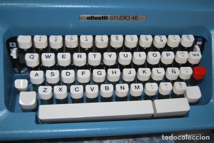 Antigüedades: maquina de escribir olivetti en perfecto estado - Foto 7 - 259707555