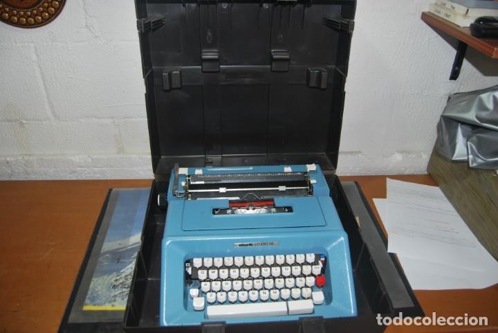 Antigüedades: maquina de escribir olivetti en perfecto estado - Foto 12 - 259707555
