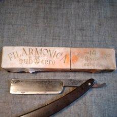 Antigüedades: NAVAJA AFEITAR FILARMONICA COCODRILO. Lote 259925290