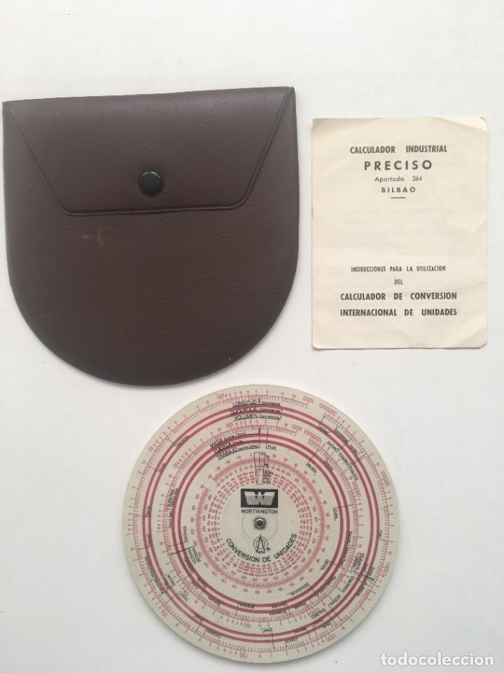 Antigüedades: Regla disco conversión unidades PRECISO - Foto 2 - 259992755