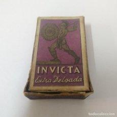 Antigüedades: CAJITA Y FUNDAS - INVICTA - EXTRA DELGADA. Lote 260018595