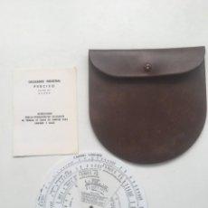 Antigüedades: TABLA DISCO CALCULO TUBERÍAS LIQUIDOS Y GASES. Lote 260021245