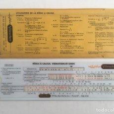 Antigüedades: TABLA REGLA CALCULO VIBRACIONES VIBRACHOC. Lote 260026360