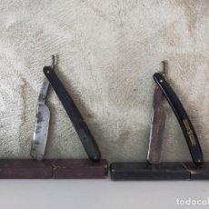 Antigüedades: PAREJA ANTIGUAS NAVAJAS DE AFEITAR. Lote 260050185