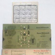 Antigüedades: TABLAS SELECC 3 UDS ROSCAS-RESORTES-FIGURAS GEOM. Lote 260070530