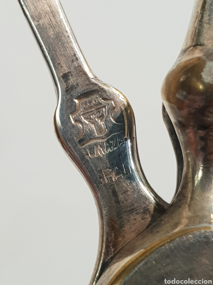 Antigüedades: PRECIOSA BALANZA DE JUSTICIA BAÑADA EN PLATA . FADRICADA EN ESPAÑA . EDEAÑ PARA DECORAR UN DESPACHO - Foto 9 - 260324515