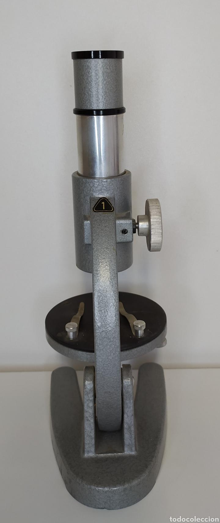 Antigüedades: Antiguo microscopio aleman HF . Escolar - Foto 2 - 260387155