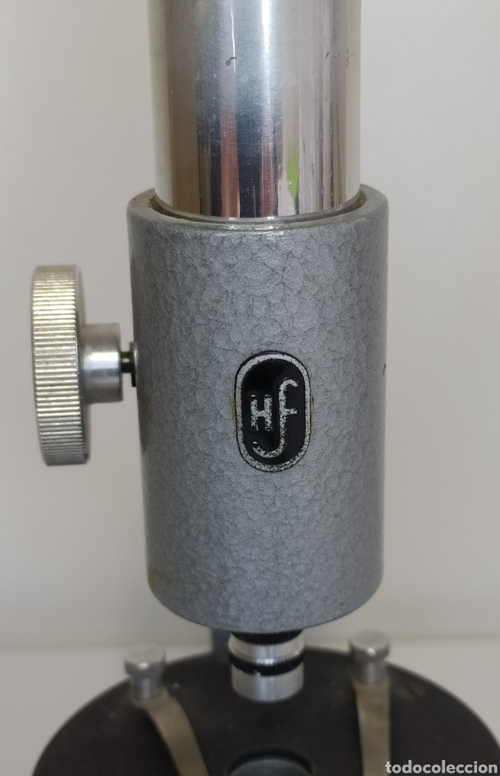 Antigüedades: Antiguo microscopio aleman HF . Escolar - Foto 4 - 260387155
