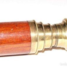Antigüedades: CATALEJO ANTIGUO DE BRONCE Y CAOBA. Lote 260397285