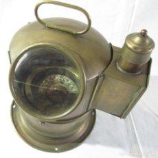 Antigüedades: BRUJULA DE BARCO NAUTICA DE LATÓN. Lote 260414060