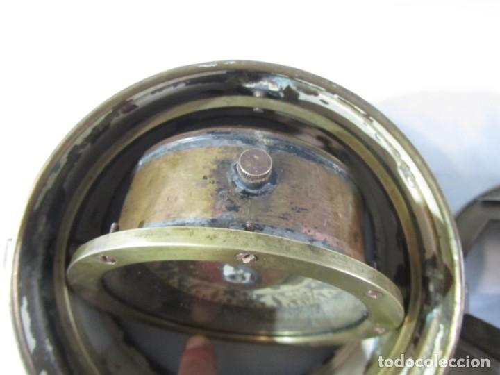 Antigüedades: Brujula de barco nautica de latón - Foto 11 - 260414060