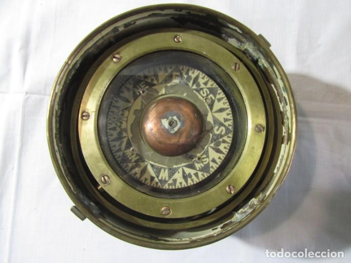 Antigüedades: Brujula de barco nautica de latón - Foto 15 - 260414060