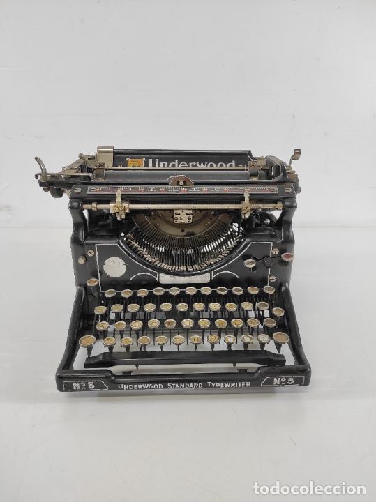 ANTIGUA MAQUINA DE ESCRIBIR - TYPEWRITER UNDERWOOD Nº 5 - AÑO 1912 (Antigüedades - Técnicas - Máquinas de Escribir Antiguas - Underwood)