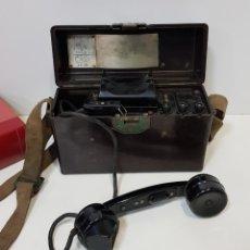 Teléfonos: ANTIGUO TELÉFONO MILITAR DE CAMPAÑA. Lote 260718915